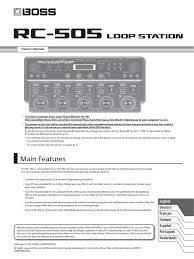 manual for boss rc 505 drum kit usb