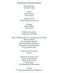 Funeral Programs Wording La Quinceanera Free Suggested Wording By Theme Geographics