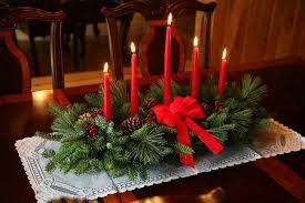 christmas centerpieces classic 5 candle centerpiece christmas centerpiece centerpieces