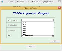download resetter epson l110 windows 7 epson l110 l210 l300 l350 l355 l550 l555 adjustment program epson