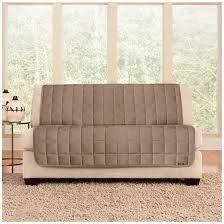 Loveseat Couch Covers Sure Fit Quilted Velvet Furniture Friend Armless Loveseat