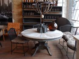 Industrial Pedestal Table Reclaimed Wood Pedestal Dining Table Hudson Goods Blog
