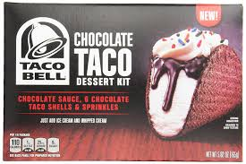 amazon com taco bell dessert kit box chocolate taco 5 82 ounce