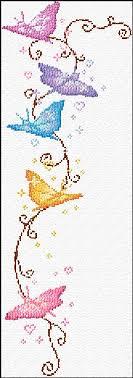 cross stitch butterflies xstitch chart design cross