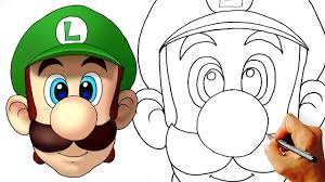 draw luigi super mario kids art lesson