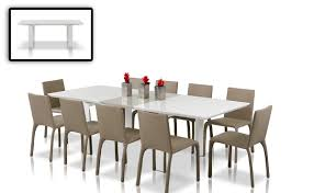 dining room savor modern round white lacquer glass 2017 dining