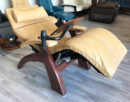 Human Touch Perfect Chair Sycamore Premium Leather Chestnut Wood Base Series 2 Classic