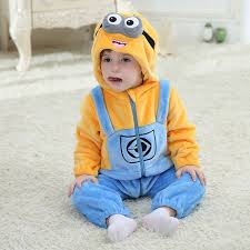 baby minion costume minion romper new born baby jumpsuit clothing infant 2016