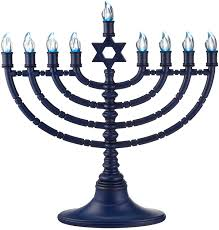 hanukkah candles for sale 11 battery operated lighted led blue of david