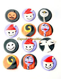 nightmare before christmas cupcake toppers the nightmare before christmas fondant cupcakenovelties