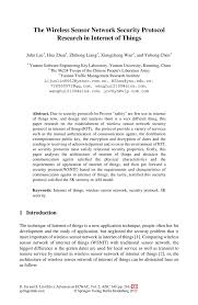 Social Security Research Paper The Wireless Sensor Network Security Protocol Research In Internet