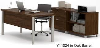 Bestar Desk Linear Metal Leg Modular Office Desk Series U2013 Executive Desk Set