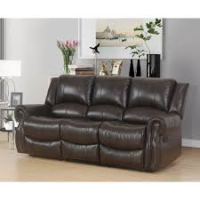 Abbyson Bradford Brown Faux Leather Reclining Sofa Free Shipping