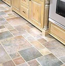 Types Of Kitchen Flooring Looks Like Ceramic Tile But It S Linoleum Flooring Easier To