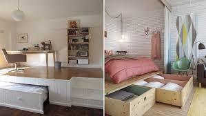 optimiser espace chambre design interieur aménager chambre coucher lit plate forme