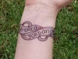 name designs on wrist
