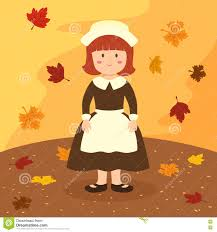 thanksgiving apron thanksgiving bonnet apron girl stock vector image 73112862