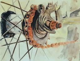 buy rusty bicycle chain watercolor watercolor painting retro bike