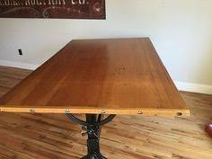 Antique Wood Drafting Table Early 1900 U0027s Hamilton Cast Iron And Wood Drafting Table Wood