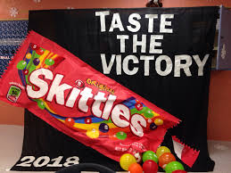 2014 spirit week 8th grade idea banner candy theme skittles are