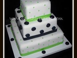3 tier lime green and navy blue wedding cake cakecentral com