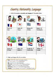 country nationality language 1
