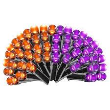 philips led color changing purple orange string lights