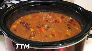 crock pot chili ground beef chili recipe slow cooker youtube