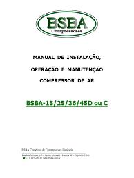manual tecnico bsba 15 25 e 36d bsba compressores
