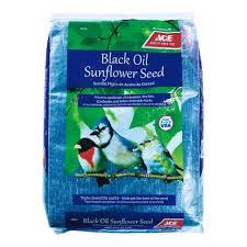 ace assorted species wild bird food black oil sunflower seed 20 lb