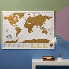 Cork World Map by Large Framed World Map
