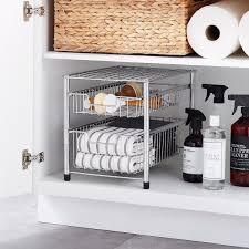 sink kitchen cabinet organizer best and most useful the sink organizers popsugar home