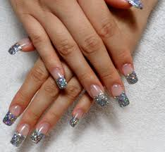 thanksgiving gel nails long gel nail designs with glitter purple glitter acrylic tips