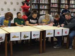 College National Letter Of Intent Twelve Student Athletes Sign College Letters Of Intent At