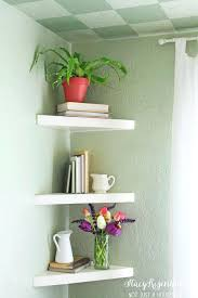 Apartment Interiors Best Floating Corner Shelves Ideas On Shelf