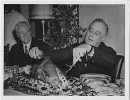 president franklin d roosevelt carving the thanksgiving turkey