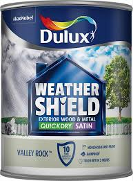 dulux weather shield quick dry satin paint 750 ml gallant grey
