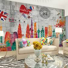 contemporary art nouveau wallpaper retro wall murals kids room