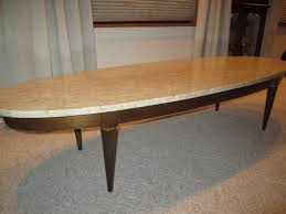 Round Marble Top Coffee Table Marble Top Oval Surfboard Style Coffee Table The Ebay Community