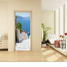 vinyl wallpaper etsy door wall sticker staircase leading down the sea self adhesive vinyl poster mural wallpaper