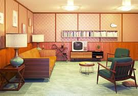 retro interiors design decoration