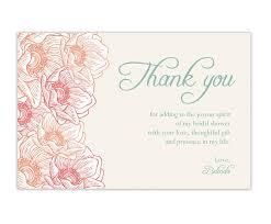 gift card bridal shower wording friendship bridal shower thank you card wording bridesmaids also