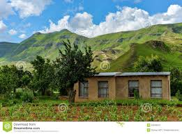small farmhouse in lesotho stock photo image 35849870