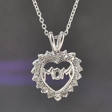 crystal love heart necklace images Fully crystal mom heart necklace aal boutique jpg