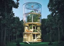 three house a tree lives inside this gorgeous glass house in the