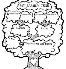 tree coloring tree colori simply simple family tree coloring pages
