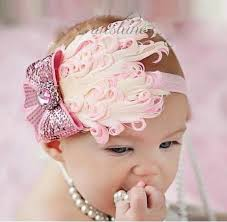 feather headbands baby girl pink feather headband with bow only 3 45 free shipping
