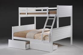 Jupiter White Duo Double Single Bunk Beds - Single double bunk beds