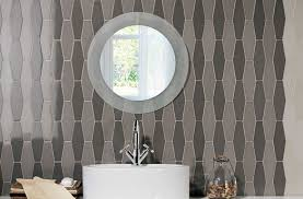 bathroom feature wall with trabada tile collection from natucer