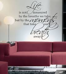 living room wall stickers life is not measured by wall art sticker quote living room kitchen